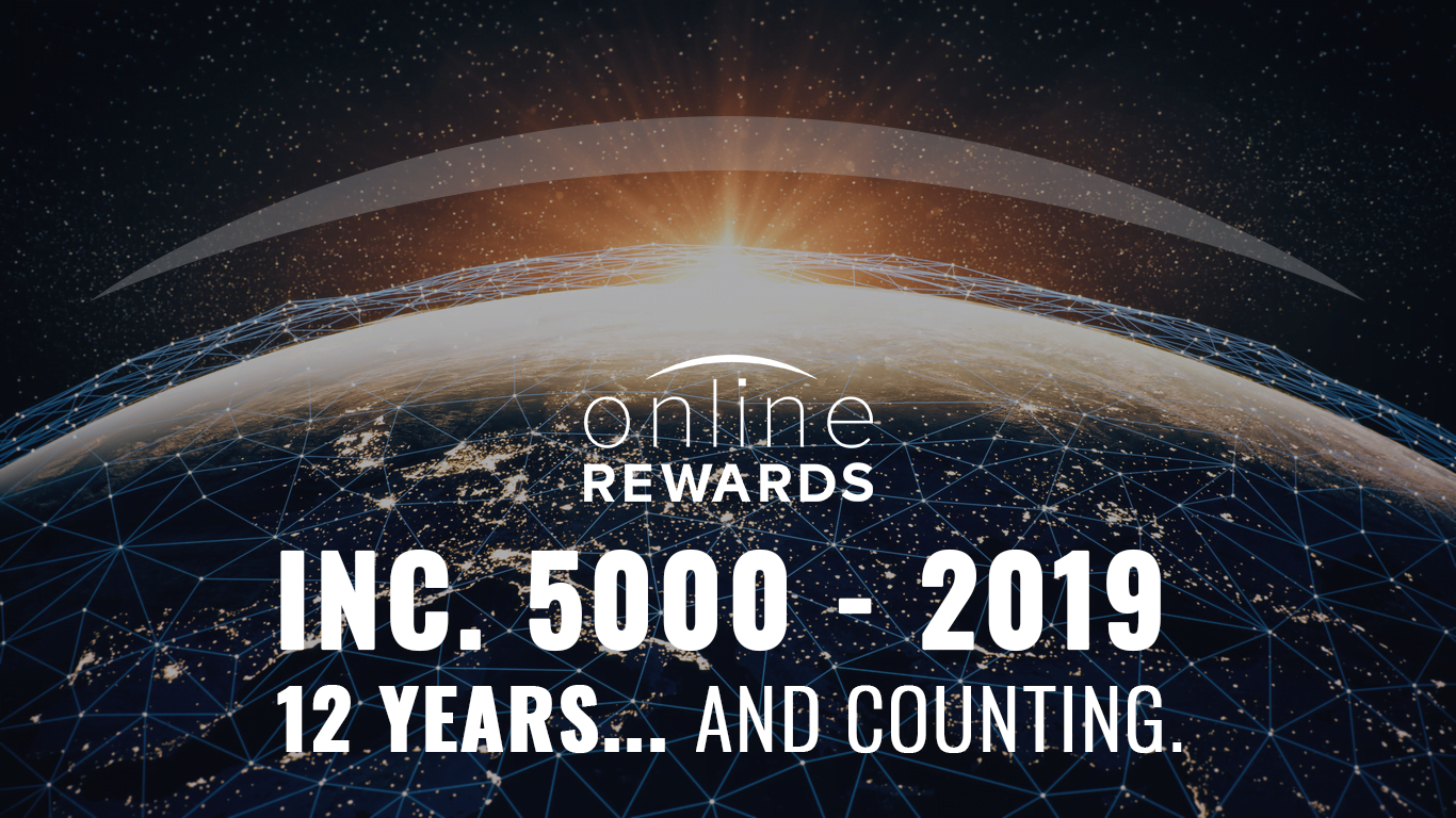 Online Rewards Earns Spot on the Inc. 5000 – Twelve Straight Years of Excellence