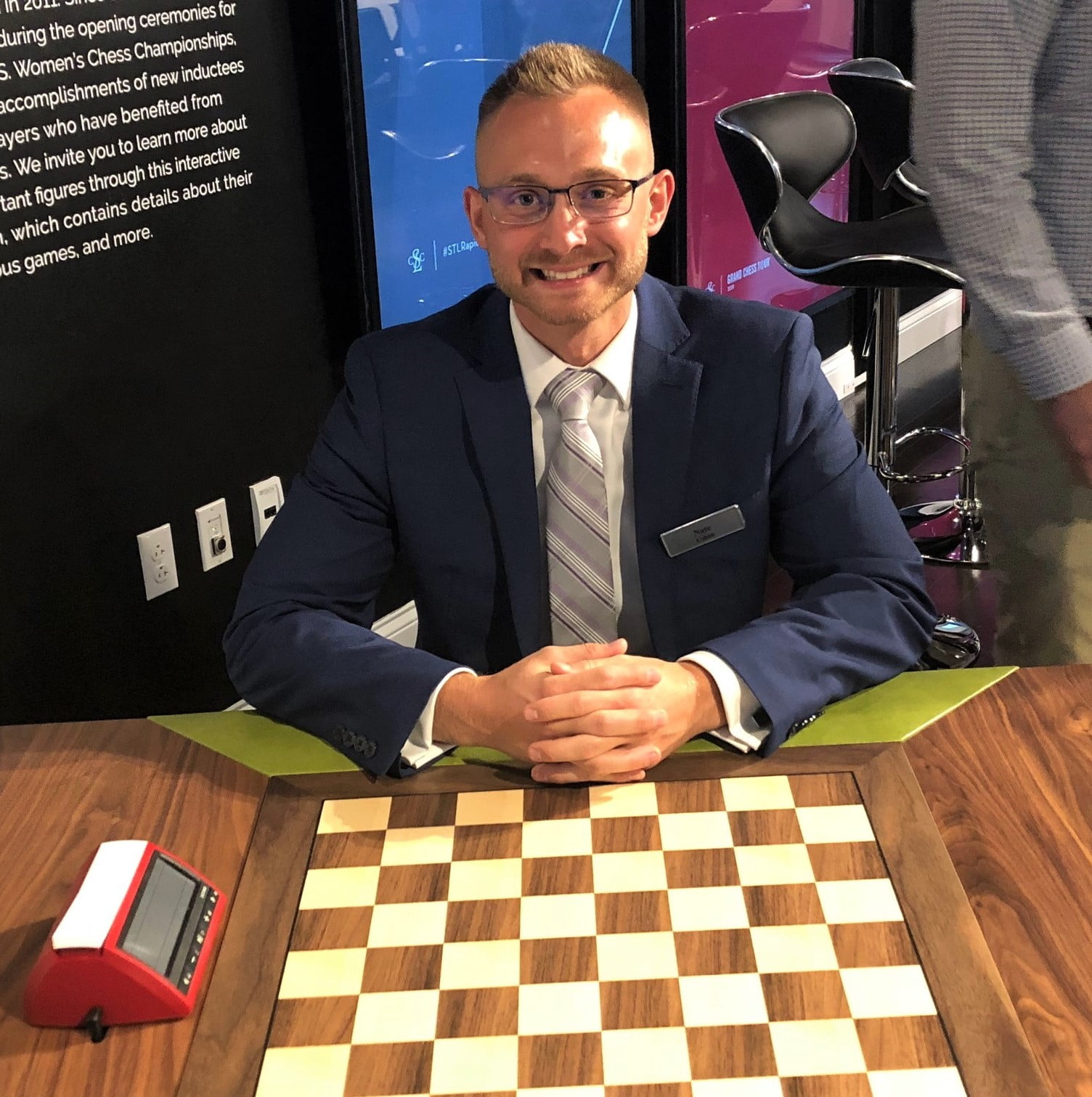 Cohen Architectural Woodworking's Nate Cohen Creates New Chess Tables for Grand Chess Tour Events in St. Louis
