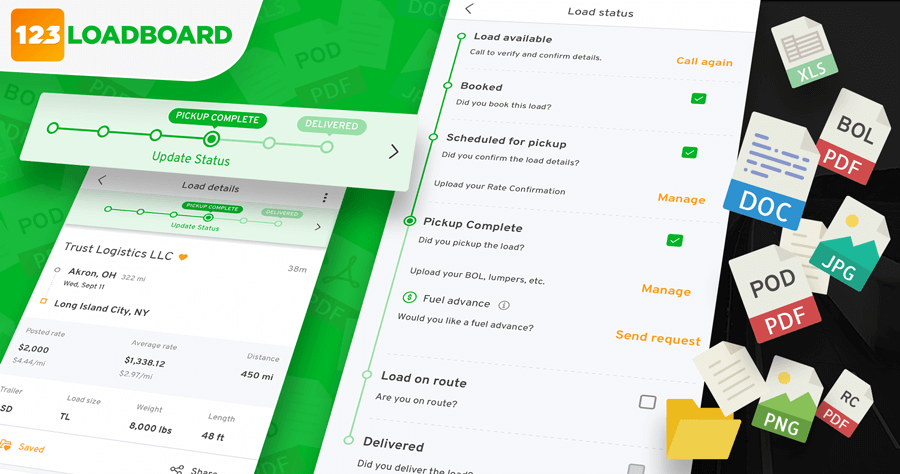 123Loadboard Adds Document Capturing and Load Status Updates to Its Digital Freight Matching Platform