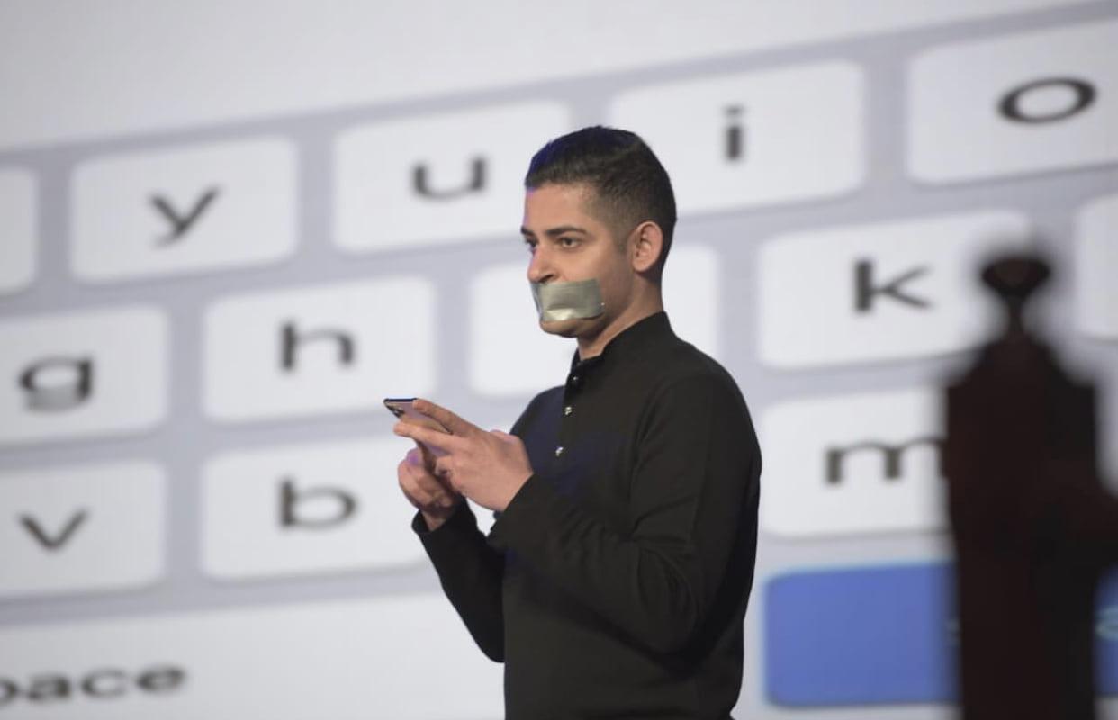 The World's First Silent Keynote Speech