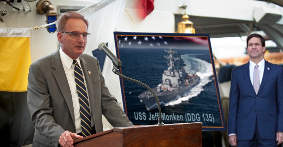 US Navy Names Destroyer USS Jeff Monken in Recognition of Army Football Coach