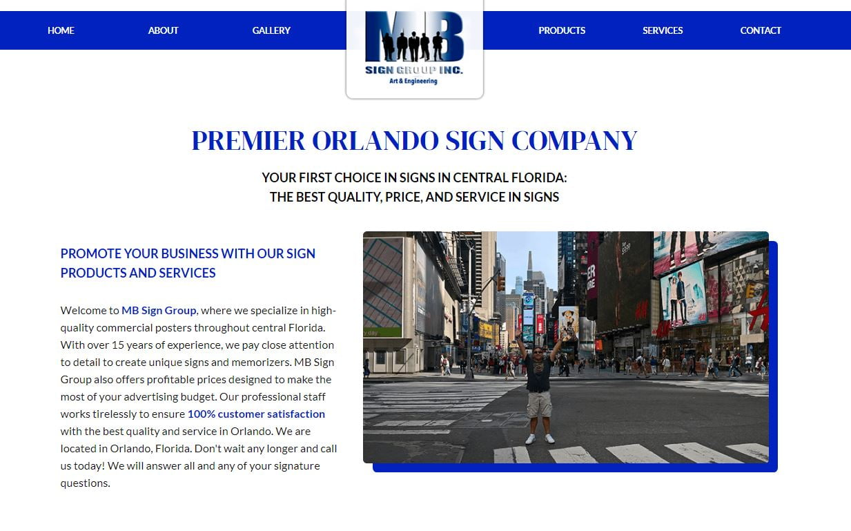 MB Sign Group's New Website