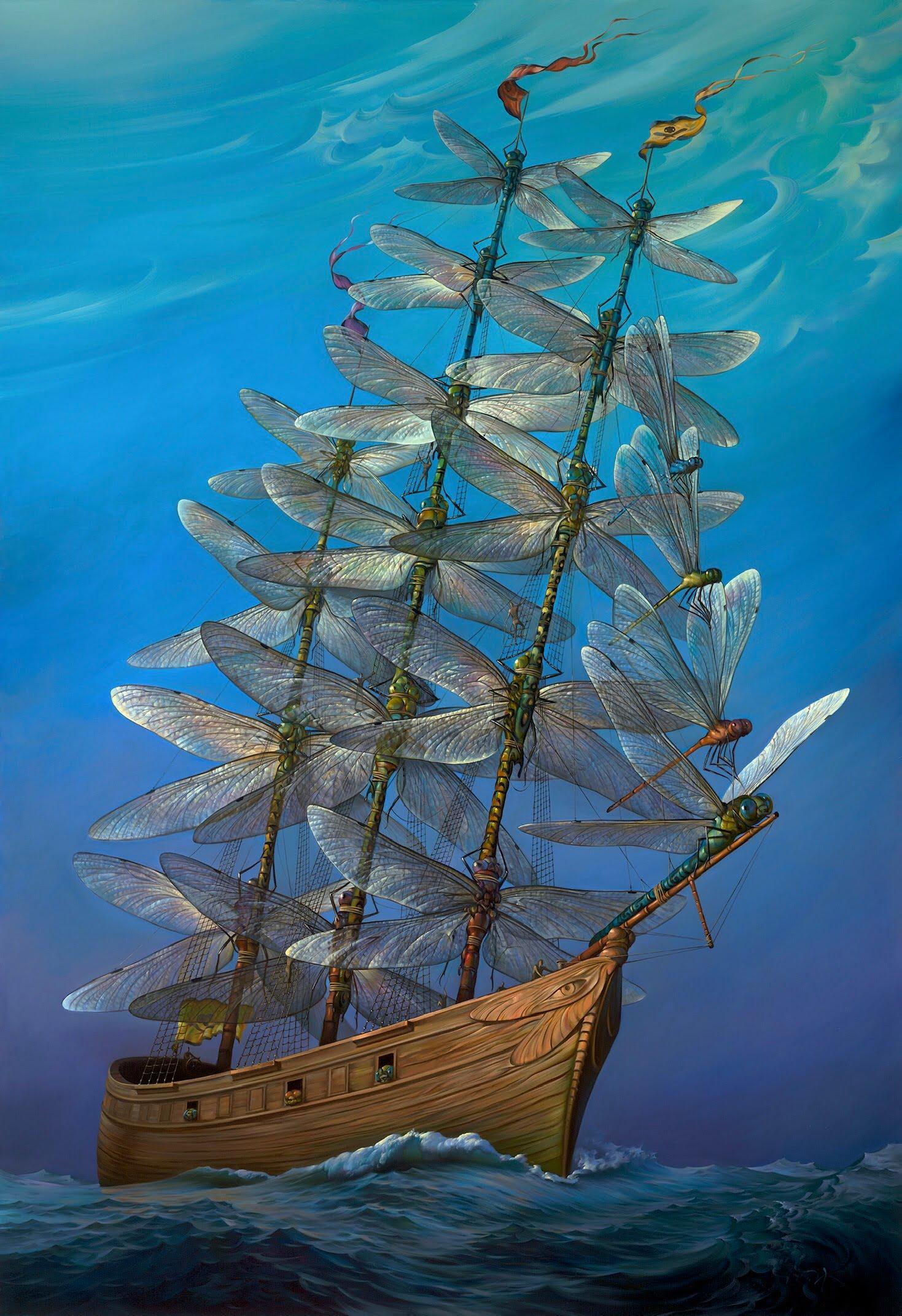 Vladimir Kush Presents His Latest Artwork 'In Full Sail'