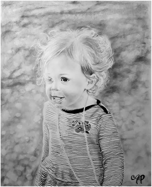 Charcoal portraits of children are just one of the wonderful ways to surprise mom or dad