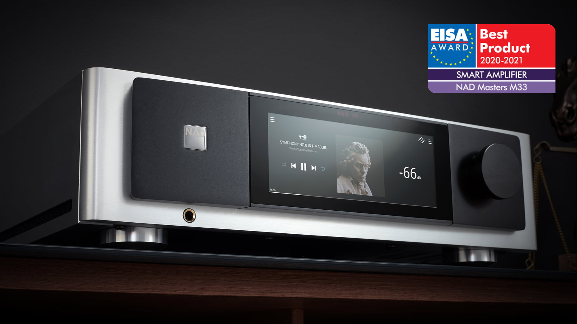 NAD Electronics' Masters M33 BluOS® Streaming DAC Amplifier Awarded Top Honour by World's Most Prestigious Hi-Fi Press