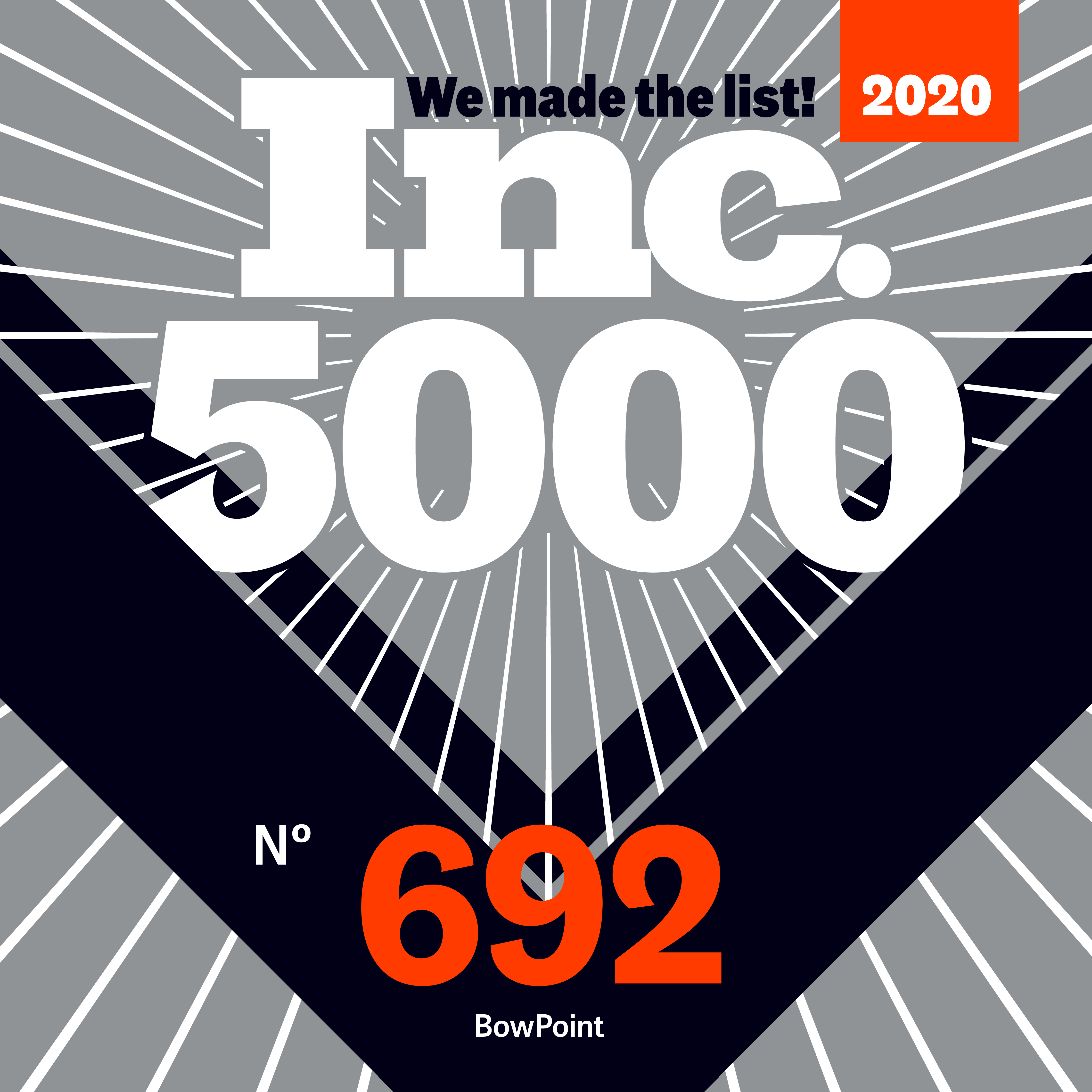 Inc. Magazine Names BowPoint to Inc. 5000 List of America's Fastest-Growing Private Companies