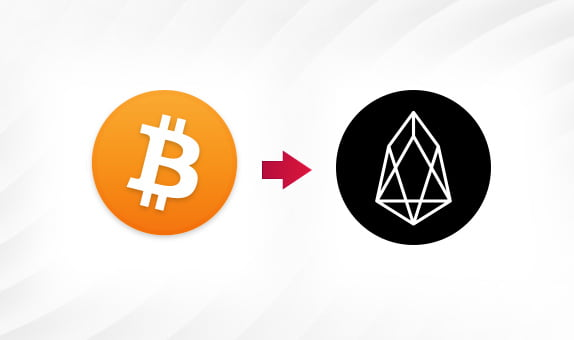 How to convert BTC to EOS