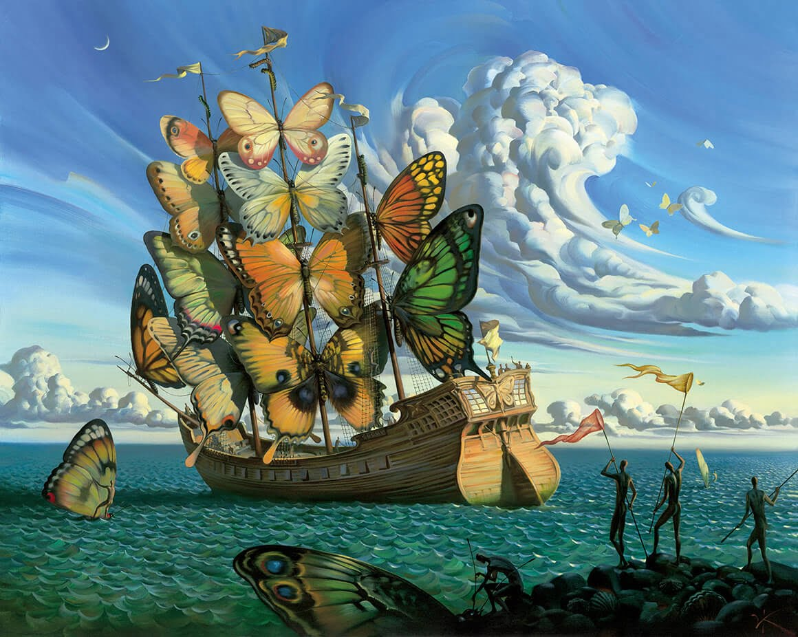 Vladimir Kush Sets the Record Straight on His Painting 'Departure of the Winged Ship' That Has Been Mistaken as Salvador Dali's