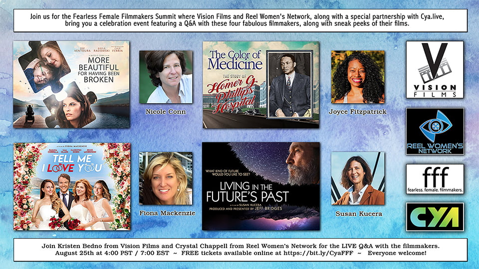 Vision Films and Reel Women's Network Announce Partnership and Upcoming Virtual Event Celebrating Women in Film