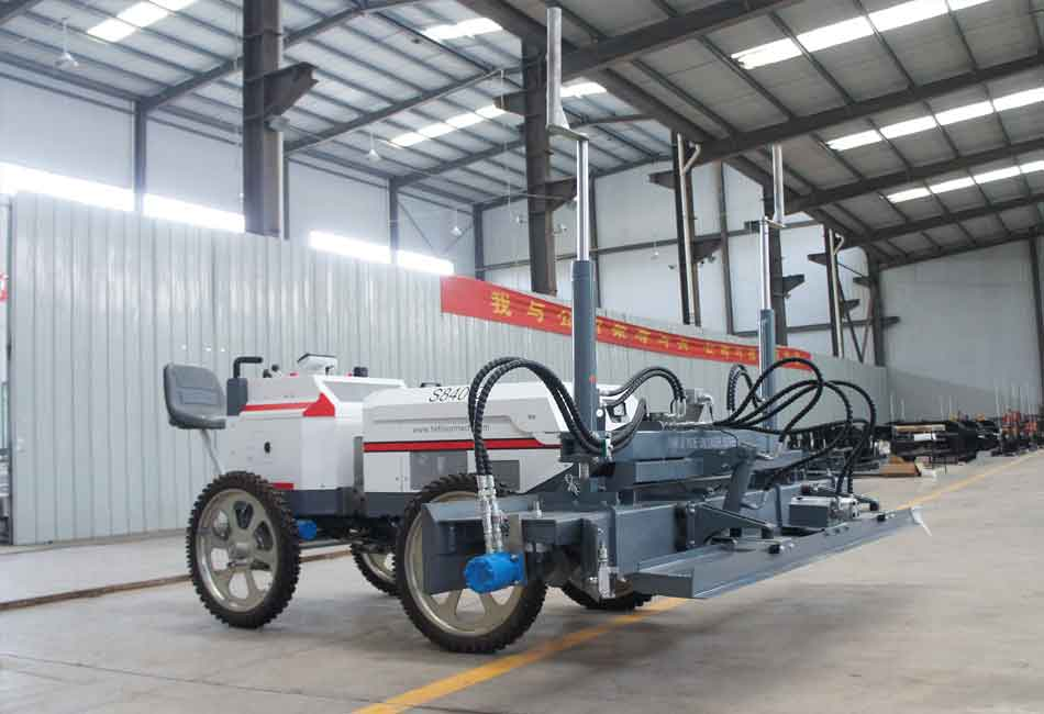 The most advanced industrial floor construction equipment–concrete laser screed
