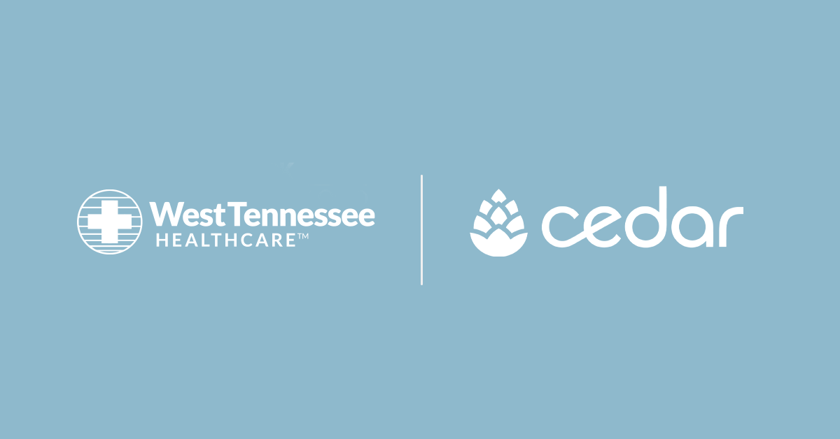 Cedar Partners With West Tennessee Healthcare to Modernize the Patient Financial Experience
