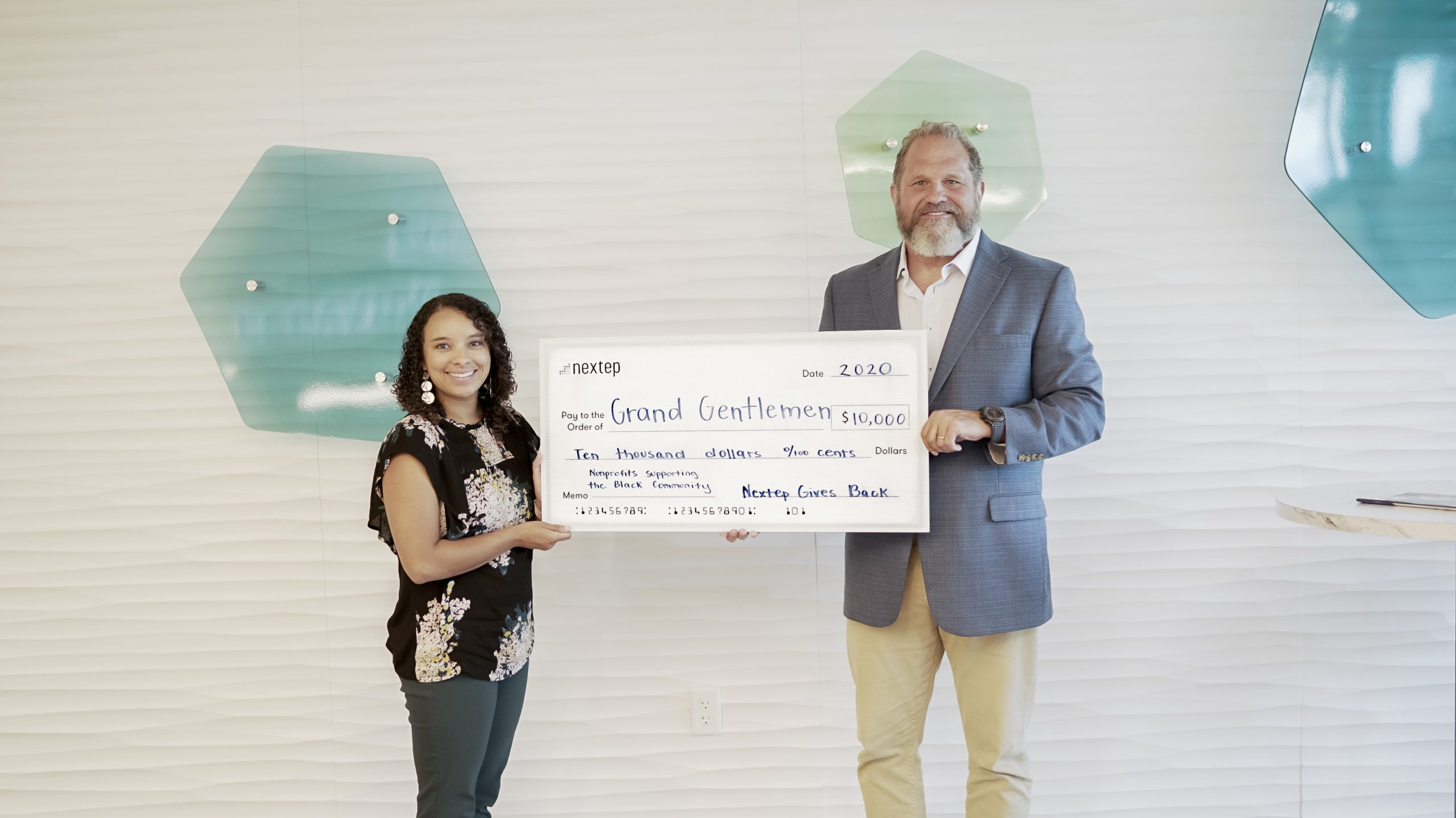 Nextep Donates $10,000 to Grand Gentlemen to Support the Oklahoma City Black Community