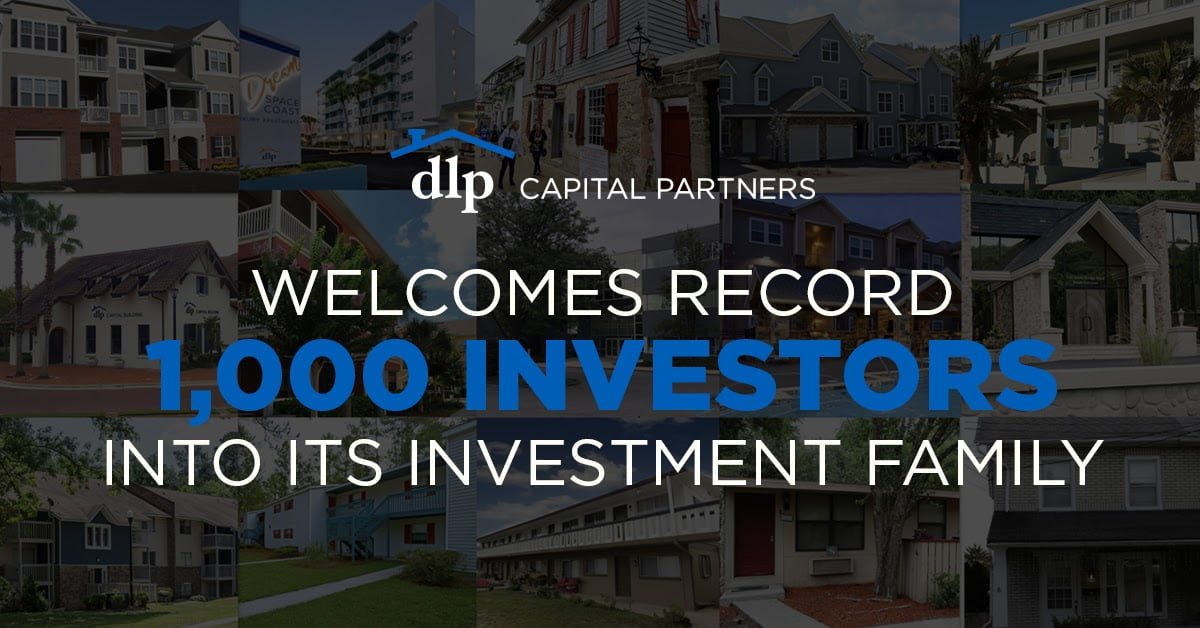 DLP Capital Partners Welcomes Record 1,000 Investors Into Its Investment Family