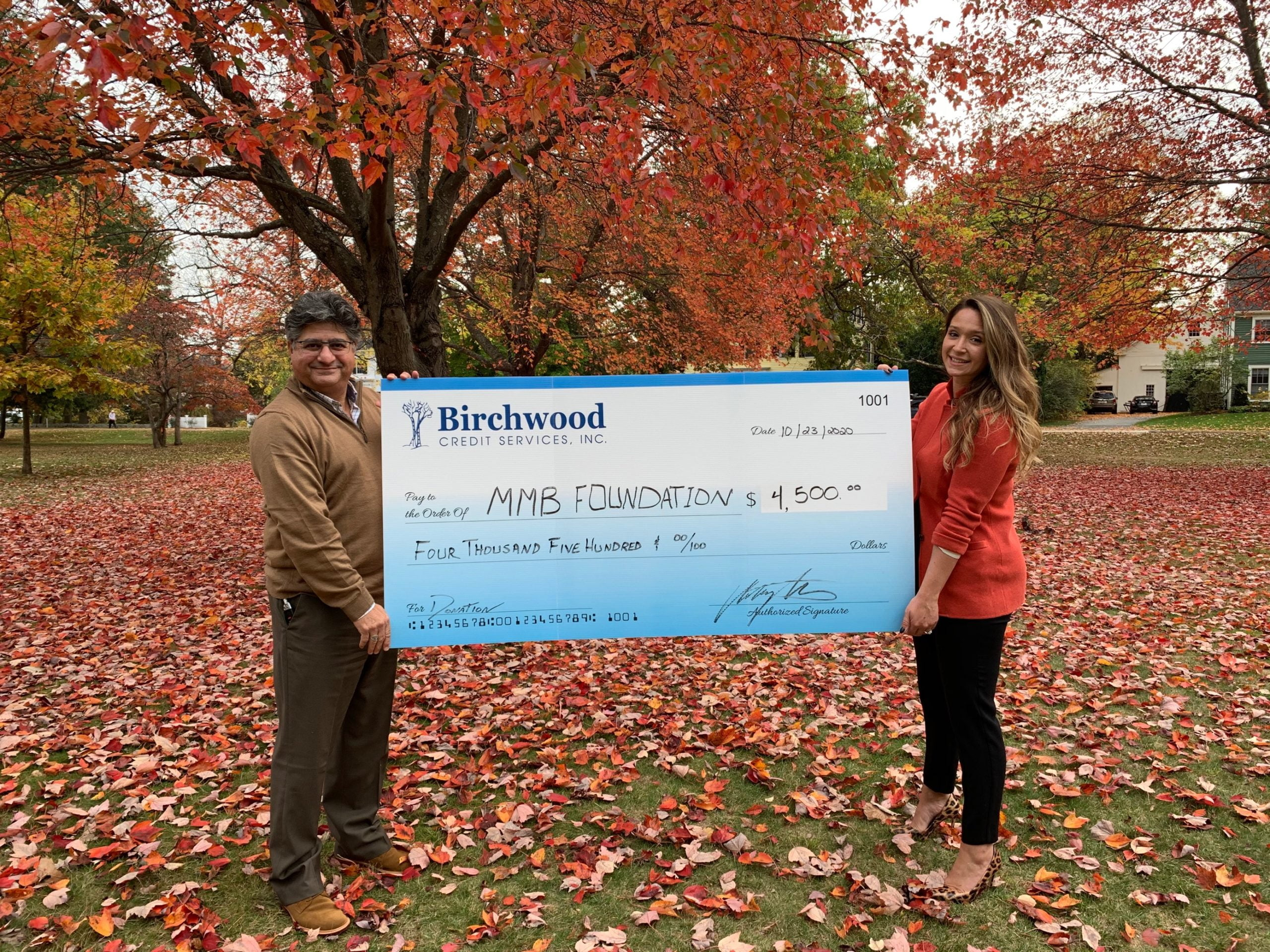 Birchwood Credit Services Inc. Donates $4,500 to the Massachusetts Mortgage Bankers Foundation