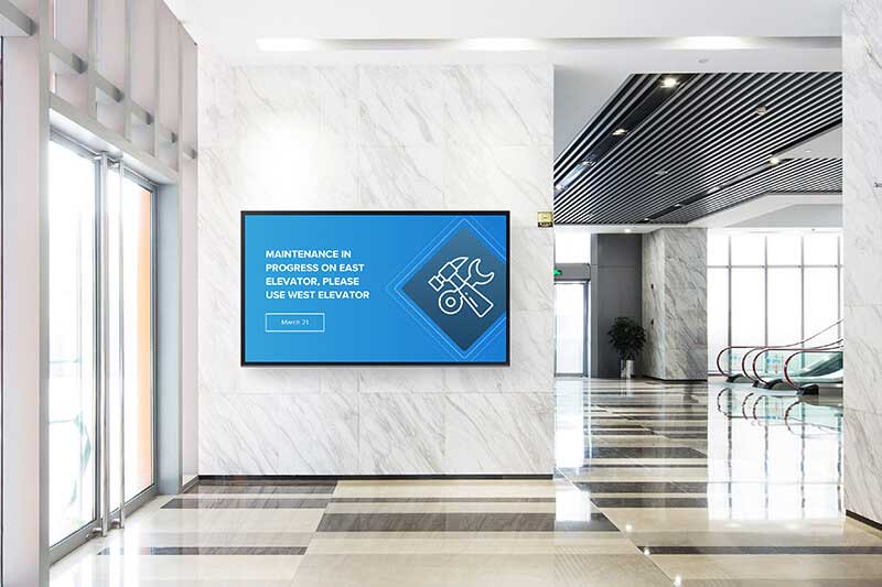 Why launch digital signage in the lobby of your buildings?