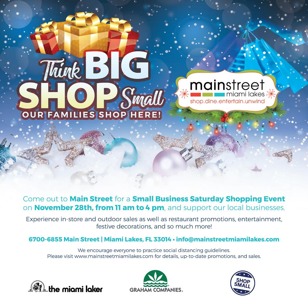 Let's Show Up for Our Downtown Miami Lakes Community on Small Business Saturday®
