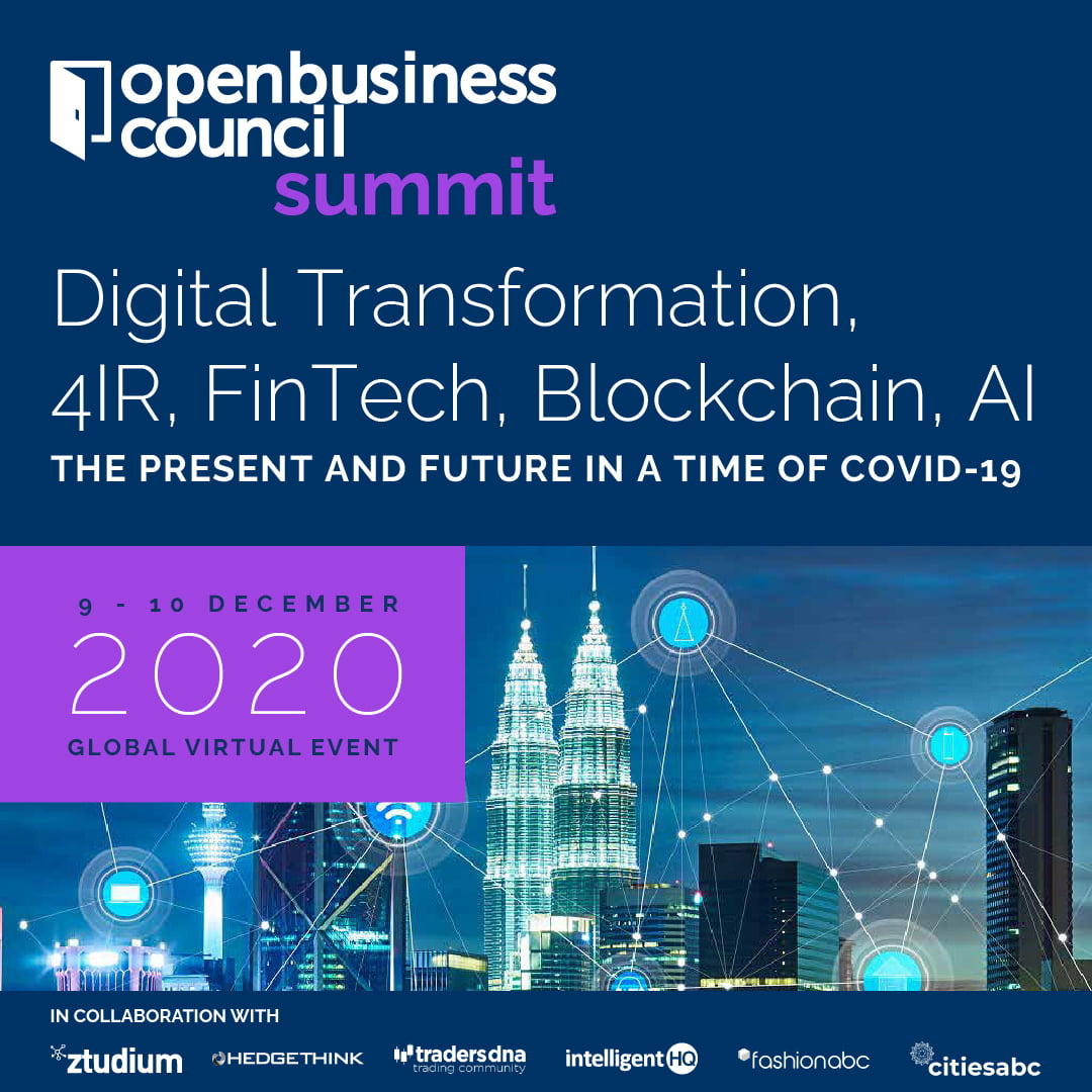 Digital Transformation openbusinesscouncil summit Features Ministers of Japan, India, Malaysia, Bangladesh, Vietnam and Special Online Masterclasses on Impact on COVID-19 and Challenges of 4IR, Society 5.0, DeFi, AI, Blockchain and FinTech