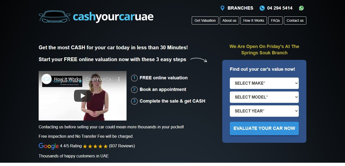 CashYourCarUAE.com: The Perfect Companion for Selling a Car