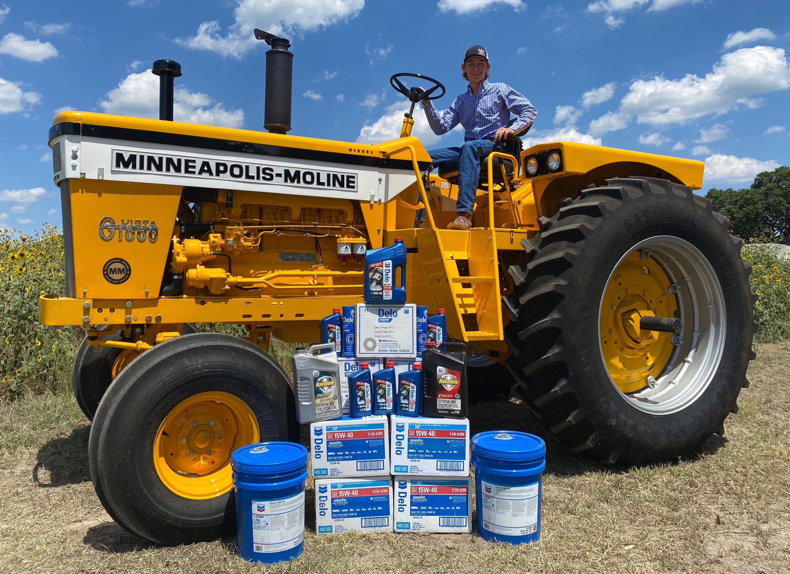 Texas Teen, Ricky Schilling, Crowned 2020 National Champion of the Chevron Delo Tractor Restoration Competition