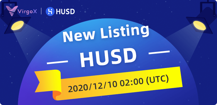 VirgoX Lists HUSD to Enhance the Positioning of the World Stablecoin Trading Center