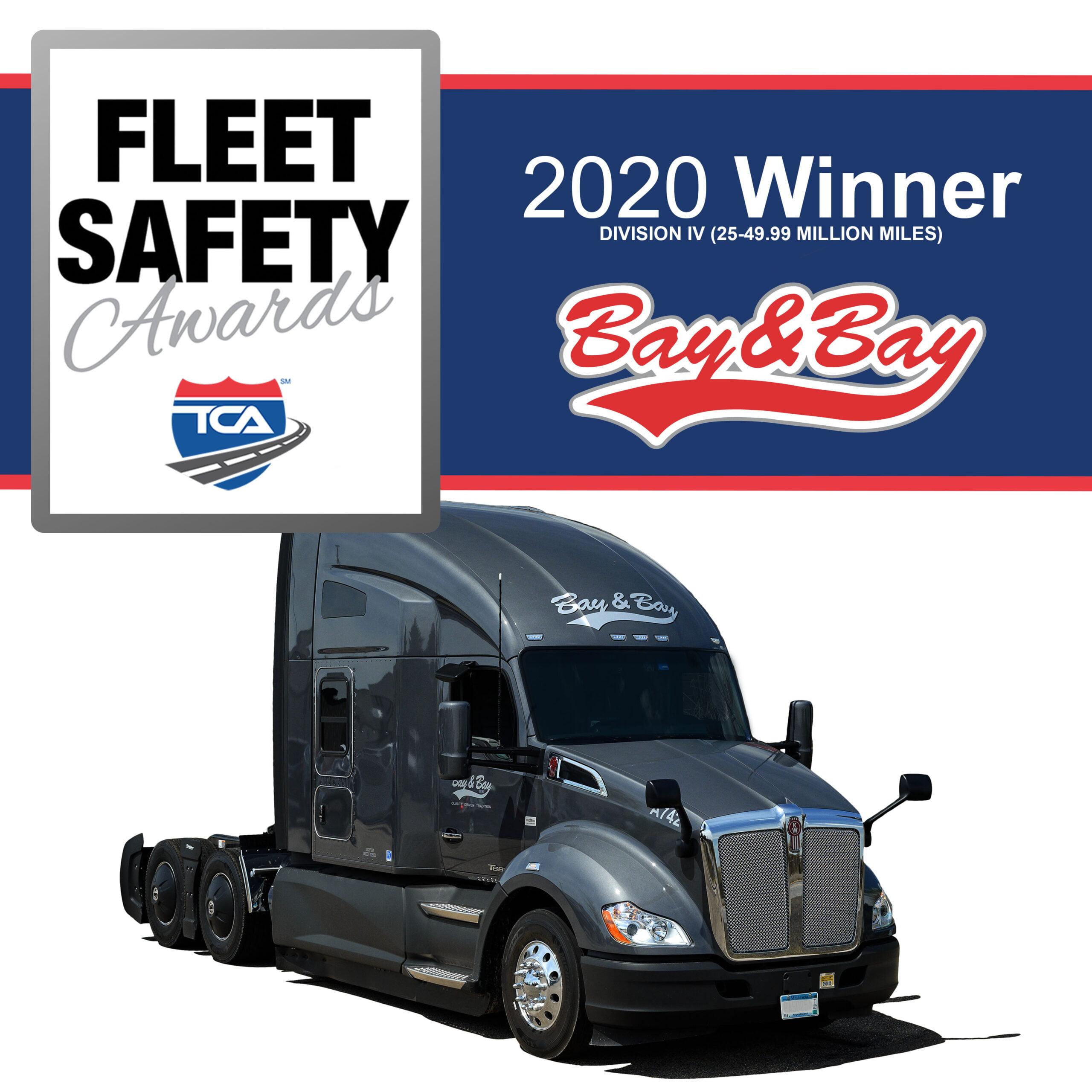 Bay & Bay Transportation Named Safest Fleet, Division IV, By  Truckload Carriers Association
