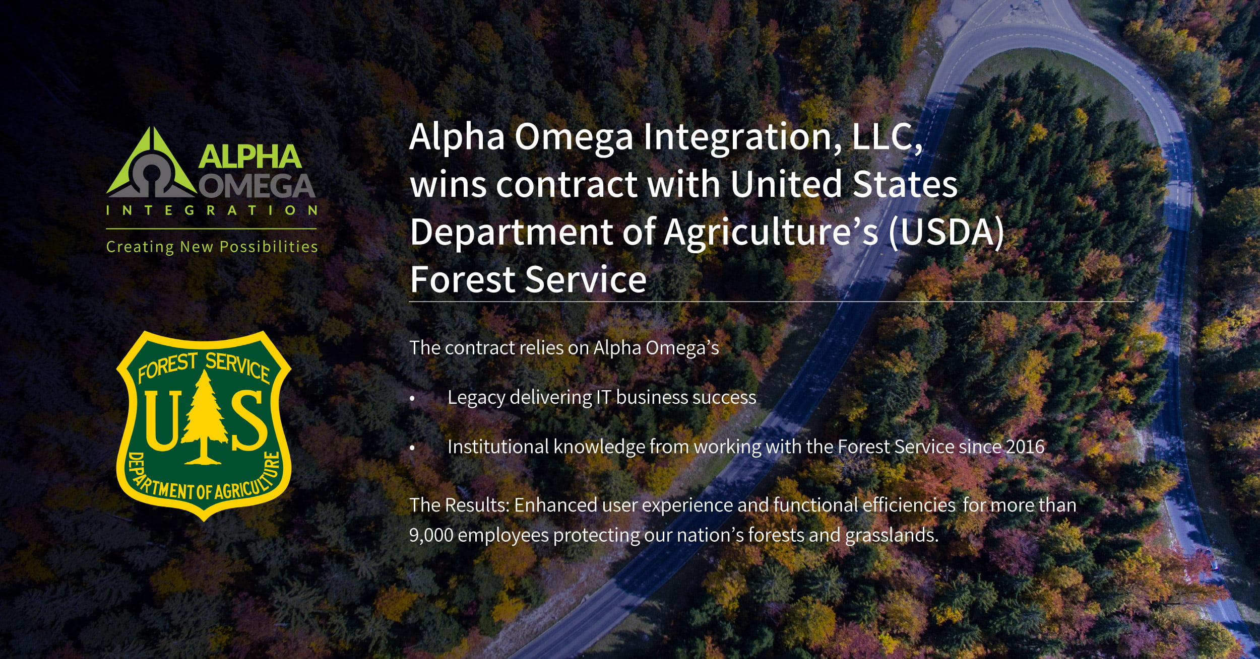 Alpha Omega Wins Contract With USDA's Forest Service