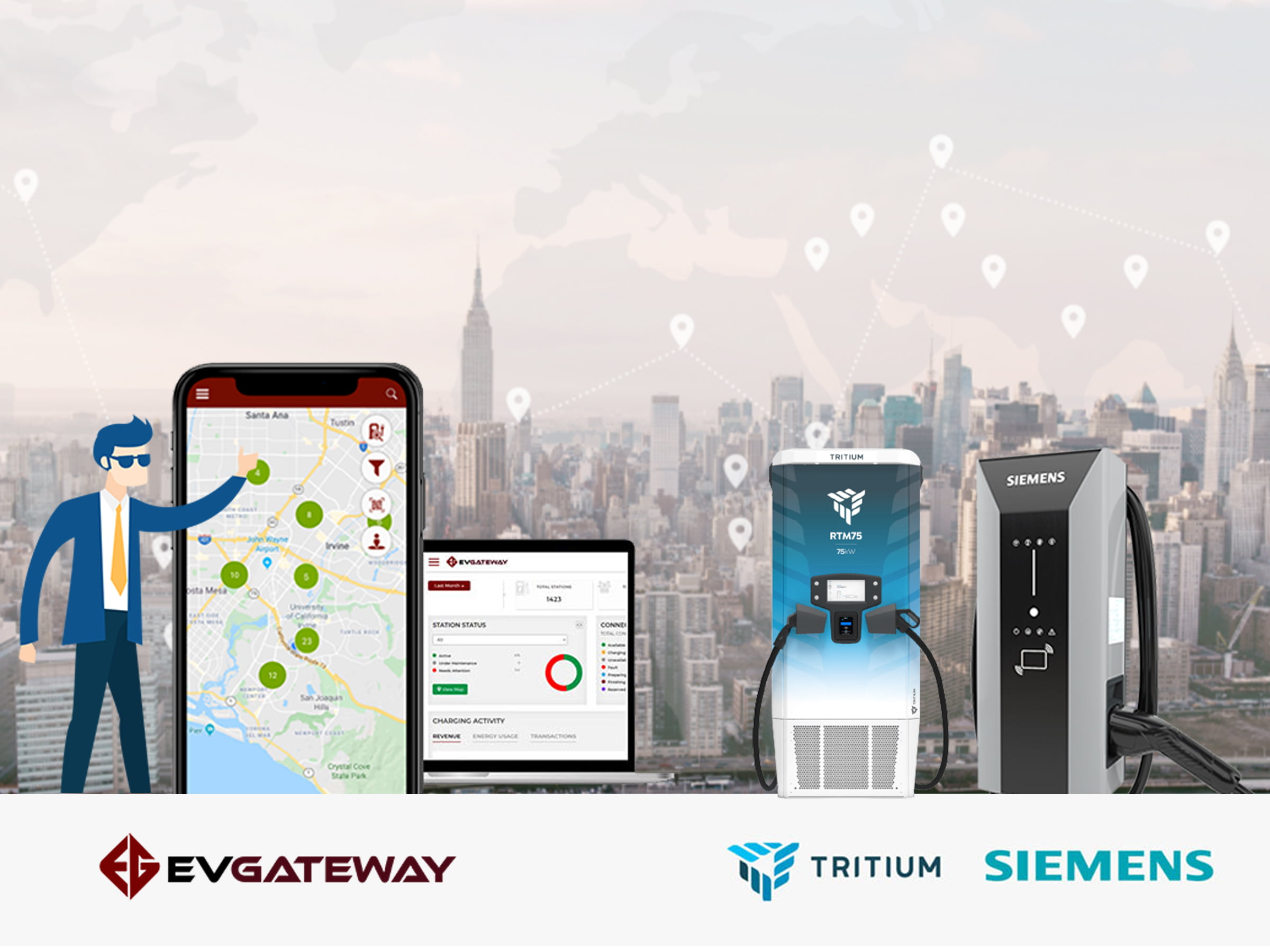 EvGateway to Provide Turnkey EV Charging Solution for Southern California Parks and Beaches With Technology From SIEMENS and Tritium
