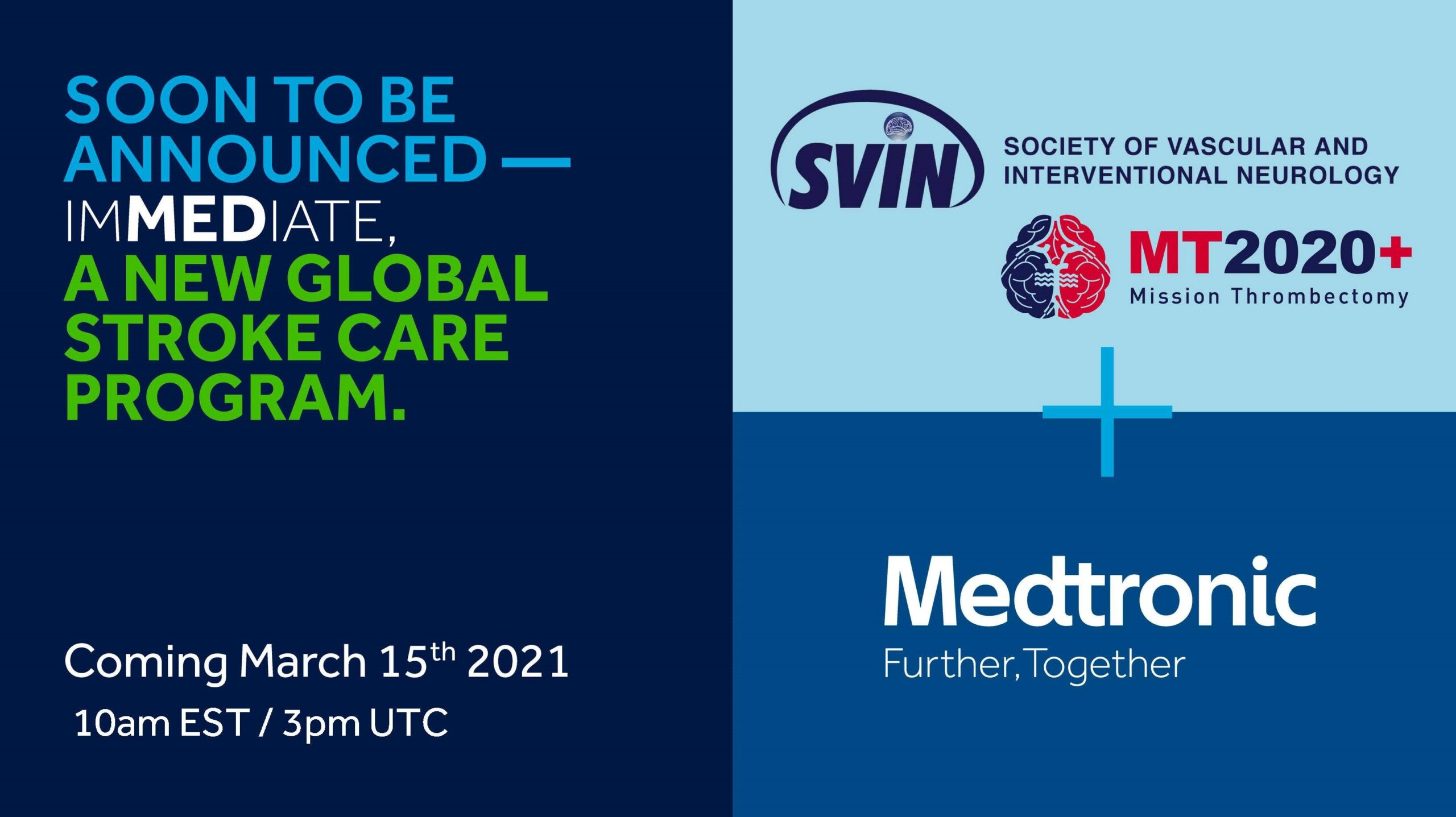SVIN MT2020+ and Medtronic Enter New Partnership to Advance Stroke Care Globally