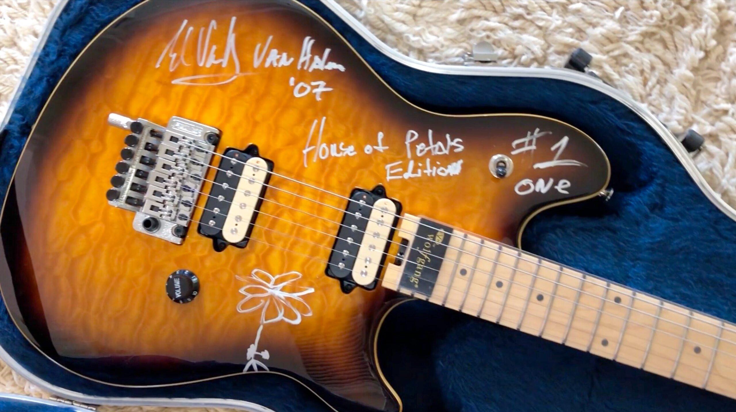 One of Eddie Van Halen's Guitars is Being Auctioned Online by Former Fiancée at EddieVanHalenGuitars.com March 25-31