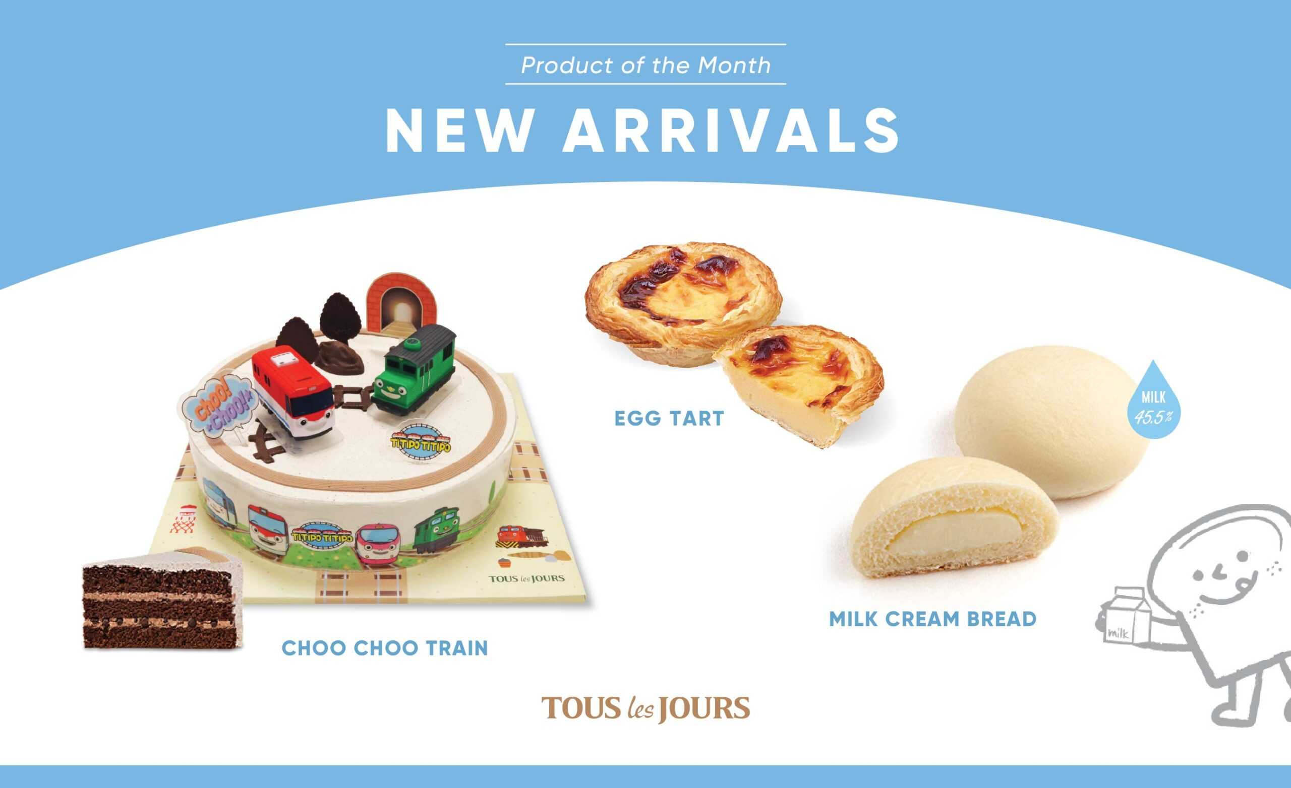 TOUS Les JOURS Bakery to Launch Portuguese Style Egg Tart and More