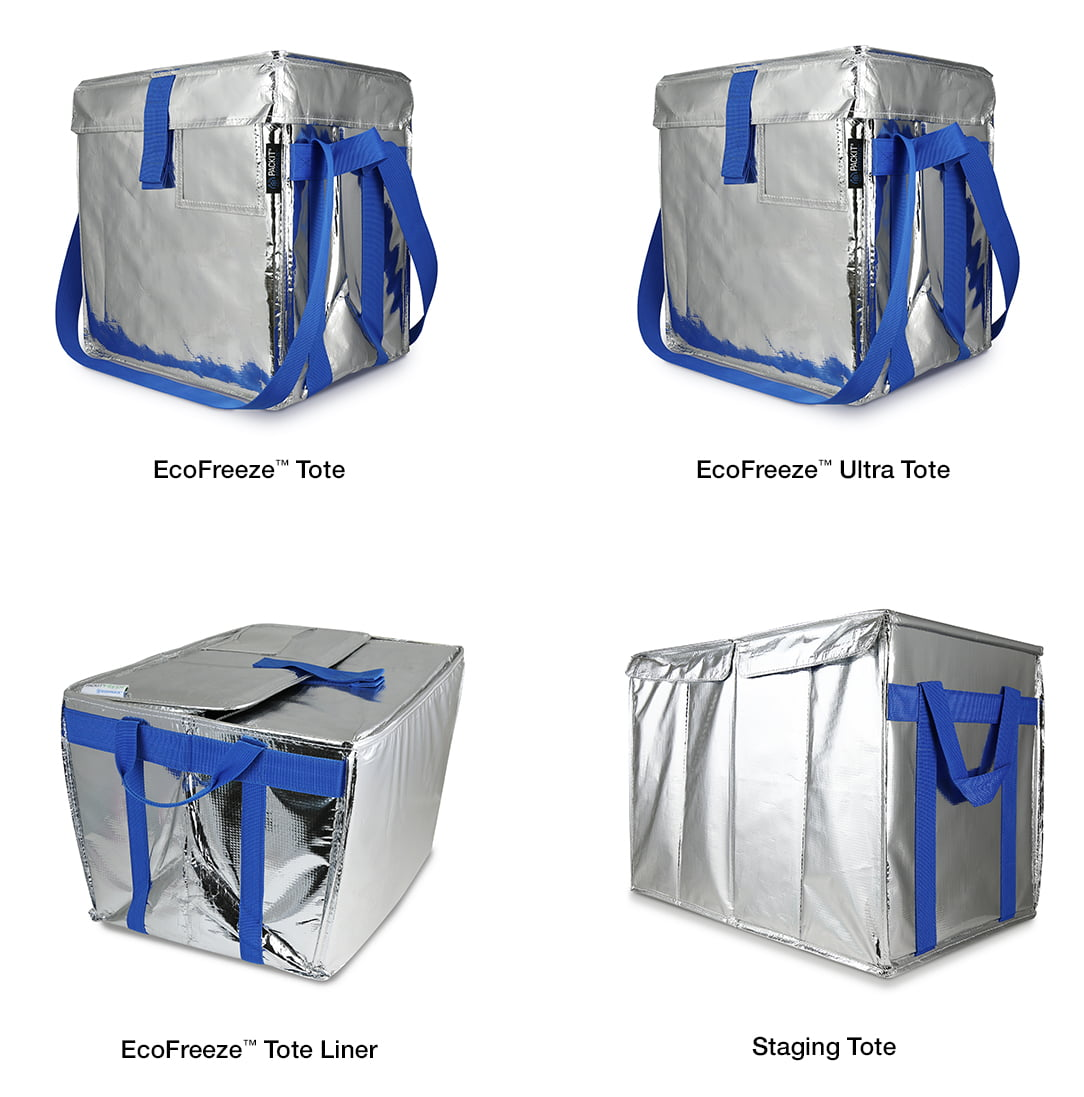 PackIt Fresh EcoFreeze Totes Take on Single-Use Packaging for Refrigerated Grocery and Meal-Kit Deliveries