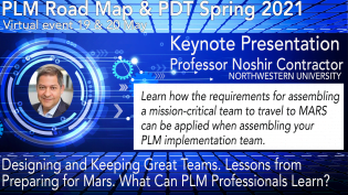 Northwestern University's Prof. Noshir Contractor, to Keynote at PLM Road Map & PDT Spring 2021