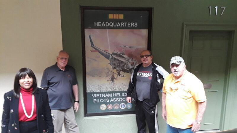 Vietnam Helicopter Pilots Association Members Meet Vietnam War Orphan, Daughter of Fallen Hero