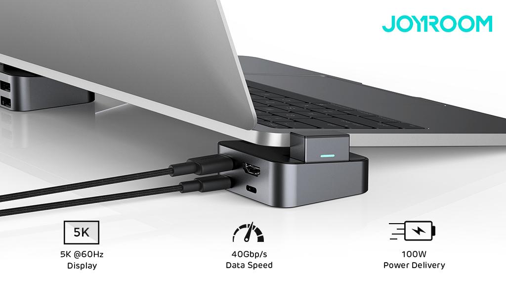 JOYROOM Announces Launch of J-Cube: Portable Ergonomic MacBook Stand & 8-in-1 USB-C Hub