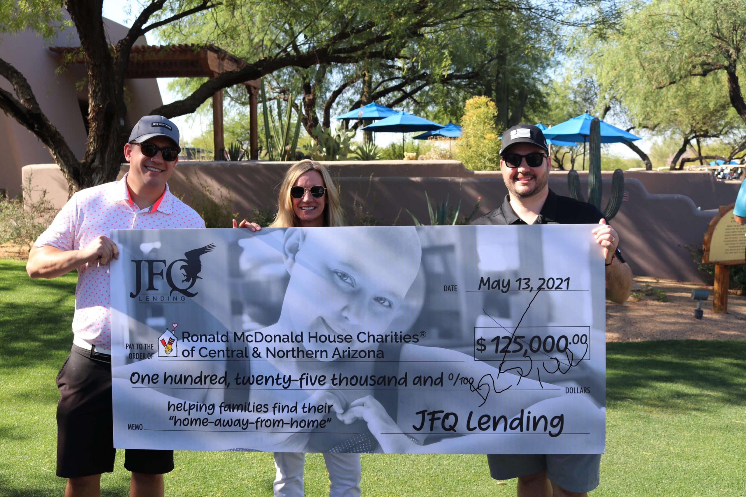 JFQ Lending Teams Up With Ronald McDonald House Families at the 2021 Greater Phoenix Pro-Am Golf Tournament