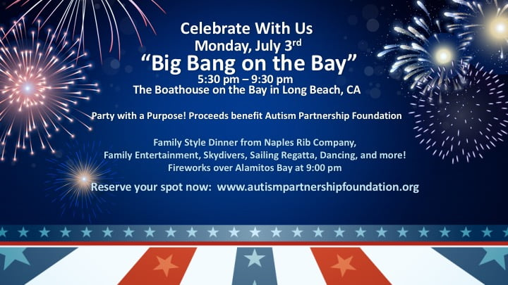 The Boathouse's Big Bang on the Bay event to benefit organization Autism Partnership Foundation