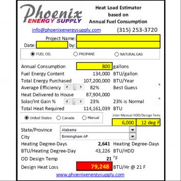 FREE Fuel Consumption to Heat Load Calculator for Design Professionals