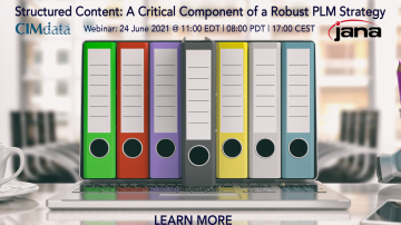 CIMdata & JANA to Host a Free Webinar on Structured Content