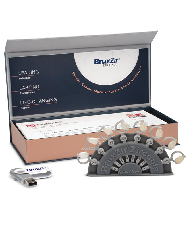 Glidewell Introduces World's First Shade Guide for BruxZir® Zirconia Dental Restorations