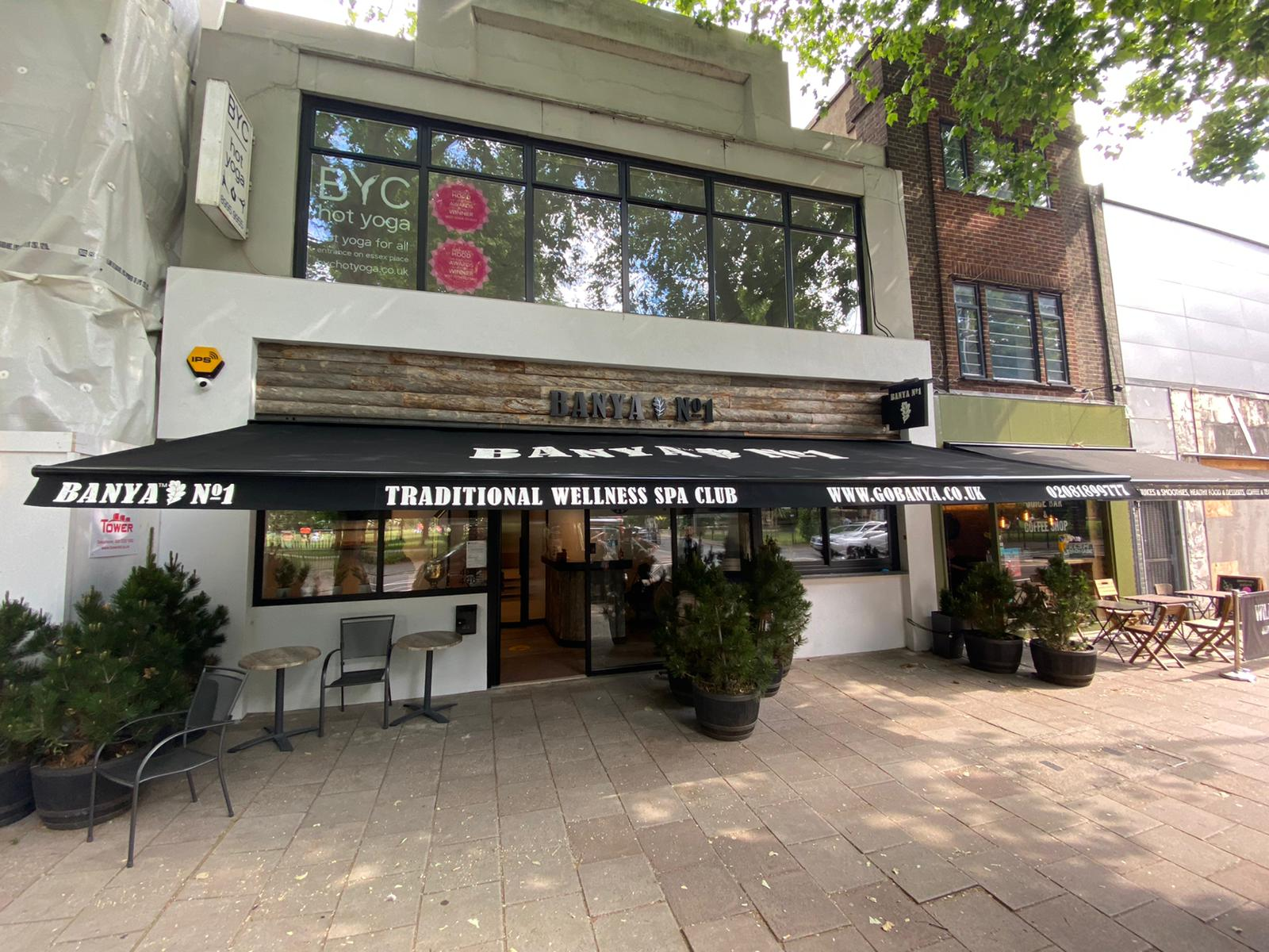 Radiant Installs New Commercial Awning for Wellness Spa in Chiswick, London